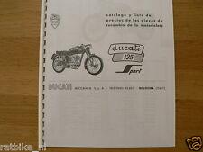 D0109 DUCATI---CATALOGO DE LAS PIEZAS DE RECAMBIO---125 SPORT-MODEL