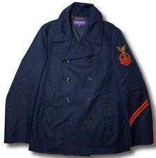$2,000 Ralph Lauren Purple Label Cotton Navy Coat Size XXL Made in Italy