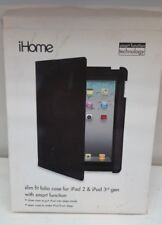iHome for iPad 2&iPad 3rd gen.Slim fit folio case Black with smart function