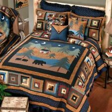 RUSTIC LODGE CABIN PRIMITIVE MIDNIGHT BEAR QUILT COLLECTION DONNA SHARP