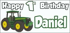 Tractor 1st Birthday Banner x 2 - Party Decorations - Personalised ANY NAME