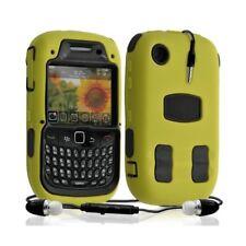 Housse étui coque rigide pour BlackBerry Curve 3G 9300 couleur jaune + Kit Piéto