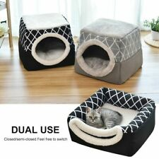 Pet Cat Dog Nest Dual Use Warm Soft Sleeping Bed Pad For Pet Non-slip Breathable