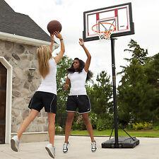 Portable Basketball System Hoop Adjustable 48-In Backboard Pole Goal Basketball