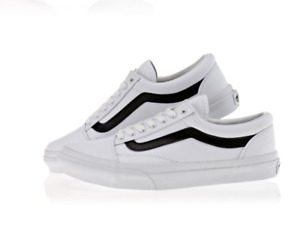 New Vans Old Skool Sneakers White Black Canvas Fashion Shoes  V36CL MDC Allsize