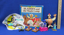 1994 McDonalds Disney Aladdin Toys Jasmine 2 Genie 2 Monkey Elephant Book Lot 8