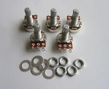 5x B500K Linear Electric Guitar Mini Pots Long Split Shaft 500K Potentiometer