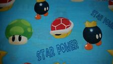 CUSTOM - NINTENDO SUPER MARIO WORLD 1-UP STAR SHELL BATH WHITE HAND TOWEL SET 2