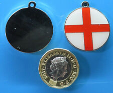 Expressions Engravers 28mm round Enamelled St. Georges  pet/dog tag