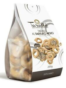 Black Truffle Taralli handmade - Taralli al Tartufo Nero (350g) from Puglia