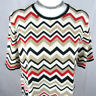 Alfred Dunner Womens Knit Sweater Short Sleeve Size L Aztec Pattern Machine Wash