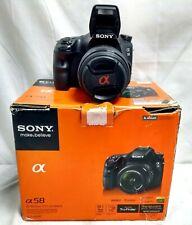 Sony A58 SLT-A58K 20.1MP Digital SLR Camera with 18-55mm Lens - Black