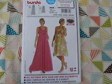 Burda 7630 Misses' Empire waist maxi length Maternity dress sewing pattern 10-22