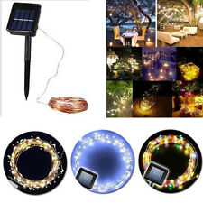 Outdoor Solar Powered 100 LED 10M/20M Copper Wire Light String Fairy Xmas Party