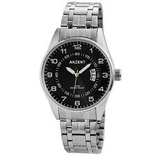 Erwachsene-Akzent Armbanduhren mit Edelstahl-Armband und 12-Stunden-Zifferblatt