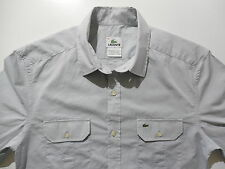 Lacoste Button-Front Dress Casual Shirt 38 Small Slim Skinny Fit