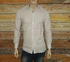 NEW John Varvatos Shirt in Meteor Size 15½ x32-33 Slim Button-Down 100% Cotton