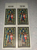 Austria Stamps 1967 SG1512 MARGRAVE LEOPOLD THE HOLY Plate Block Of 4 Mnh