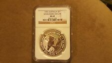 1993 Australia Kookaburra 1 oz silver coin NGC MS 69!