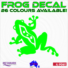 22cm FROG waterproof vinyl decal sticker.Car,caravan,motorhome,wall,window,tiles