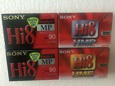 4 x Sony Hi8 Kassetten