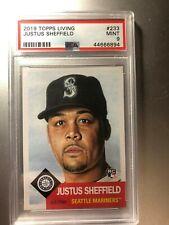 92019 Topps Living Set #233 JUSTUS SHEFFIELD PSA 9 Mint Card SP MARINERS