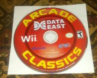 Nintendo Wii Video Game Data East Arcade Classics by Majesco DISC ONLY