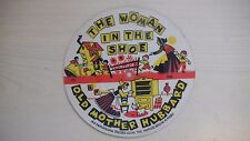 """Playsong Cardboard Picture Record THE WOMAN IN THE SHOE 6 1/2"""" 78RPM 50s"""