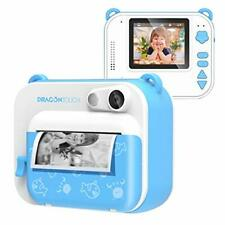 InstantFun Instant Print Camera for Kids, Zero Ink Toy Camera with Blue