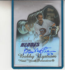 2003-04 TOPPS STANLEY CUP HEROES BOBBY NYSTROM NEW YORK ISLANDERS AUTO AUTOGRAPH