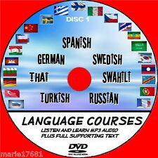 7 Language courses Spanish German Swedish Russian Thai Turkish One NEW PCDVD 1