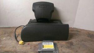 02 03 Chevrolet Trailblazer Air Bag Set Wheel Dash Module Grey