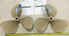 """Reconditioned Balanced Bronze Boat Propellers 19"""" x 17 P, Left & Right Set"""
