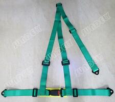 Sundely High Quality Green 3 Point Racing Rally Race Harness with Anchor Plates