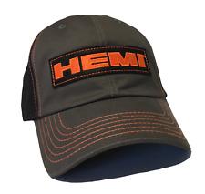 BRAND NEW HEMI PATCH CHALLENGER RAM MAGNUM RT CHARGER RT GRAY/ORANGE HAT/CAP!