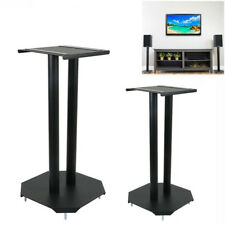 2X Universal Steel Floor Speaker Stands for Surround Sound & Book Shelf Speakers