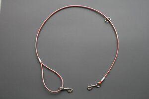 Custom Hunter Orange One Dog Cable Lead Leash Hog Dog Supplies Working Dog