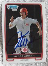 Cincinnati Reds Jesse Winker Signed 2012 Bowman Chrome 1st Card Auto