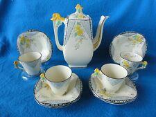 Burleigh Ware Tea Set Of 11 Pieces 1930's England Burgess Leigh LTD