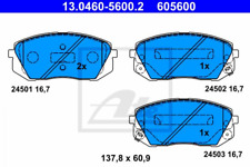 Bremsbelagsatz, Scheibenbremse für Bremsanlage Vorderachse ATE 13.0460-5600.2