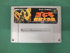 SNES - GODZILLA Kaijuu Daikessen - monster battle Super famicom Japan game 14627