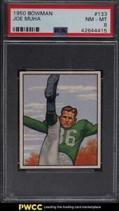1950 Bowman Football Joe Muha #133 PSA 8 NM-MT