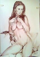 Original art erotic,nudes,sexy body model girl, portrait beauty,impressionism