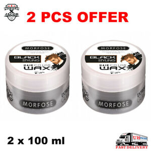 2 PCS OF MORFOSE PROFESSIONAL REACH - HAIR COLOR WAX | BLACK STYLING | 100ml