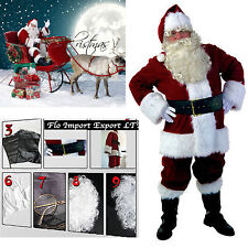 Costume Outfit Santa Claus Deluxe Cosplay Santa Claus Christmas Suit SANTC03