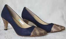 Jelly Beans blue leopard shoes size 8 Inc Made in Japan