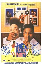 Martin Lawrence & Kid 'n Play Signed House Party 11x17 Poster PSA/DNA Autograph