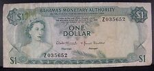 1968 Bahamas Monetary Auth. One Dollar Replacement Note** Free U.S. Shipping **