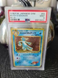 Pokemon Japanese Misty's Golduck Holo PSA 9 Mint