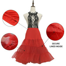 Retro 67cm Long Adults Tutu Dance Skirt Party Evening Dress Costume Dancewear AU